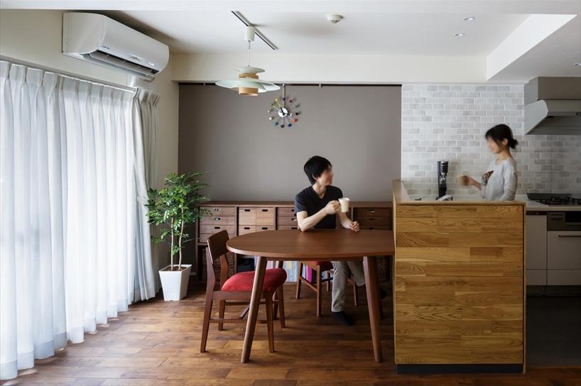 室内窓がつなぐリビングと書斎 施工事例 リフォームリノベーション
